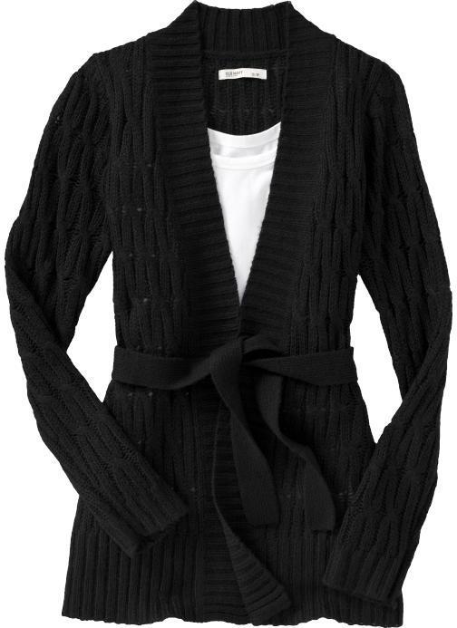 Women's Cable-Knit Tie-Belt Cardigans