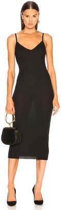 Enza Costa Rib Strappy Bra Midi Dress