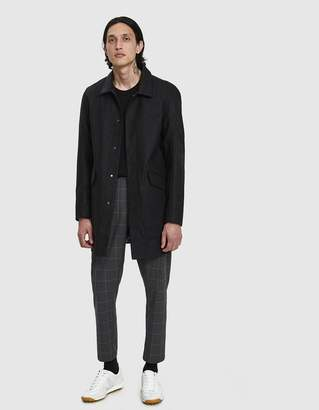 Wings + Horns Wings+Horns Tech Merino Mac Coat in Medium Black