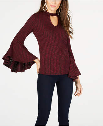 Thalia Sodi Ribbed Choker-Neck Top, Created for Macy's