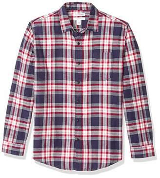 6ff496a2c Amazon Essentials Men s Regular-Fit Long-Sleeve Plaid Flannel Shirt
