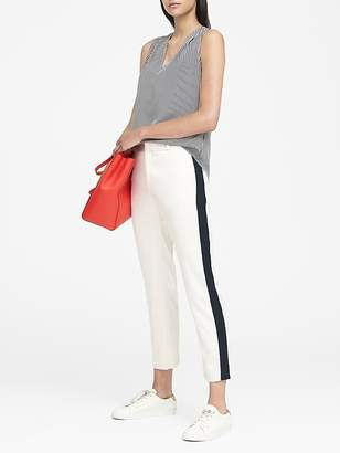 Banana Republic Petite Avery Straight-Fit Side-Stripe Ankle Pant