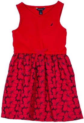 Nautica Eyelet Skirted Dress