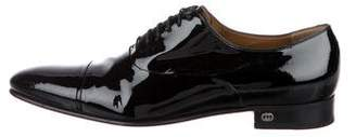 Gucci Patent Leather Round-Toe Oxfords