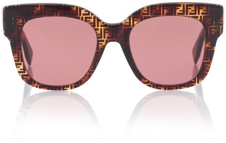 Fendi Logo acetate sunglasses