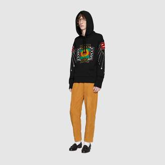 Gucci Hooded sweatshirt with deer patch