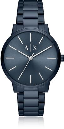 Emporio Armani Cayde Blue Minimalist Men's Watch