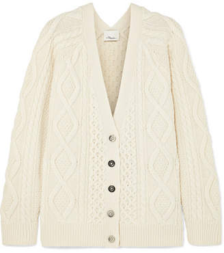 3.1 Phillip Lim Cable-knit Wool Cardigan - Ivory