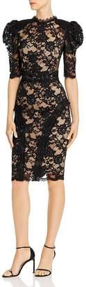 Bronx AND BANCO Madeleine Puff-Sleeve Lace Dress