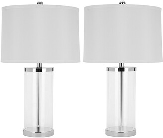 Safavieh Set Of 2 25In Jeanie Cylinder Lamps