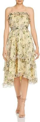 Keepsake Luscious Ruffled Floral Midi Dress