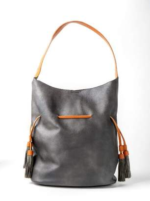 francesca's Black Hobo Tassel Tote - Black