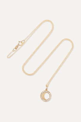 Andrea Fohrman Waning Gibbous Moon 18-karat Gold Diamond Necklace