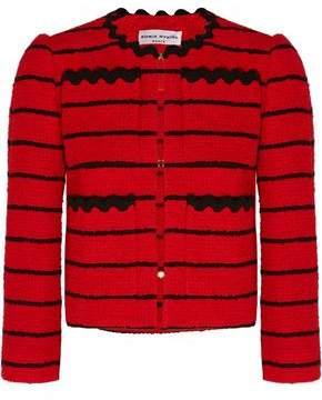 Sonia Rykiel Striped Cotton-Blend Bouclé-Tweed Jacket