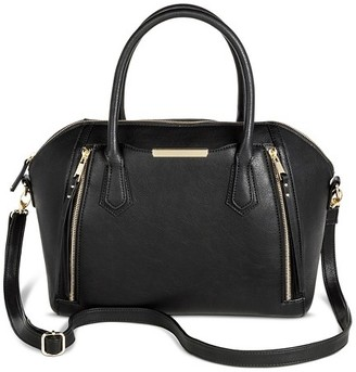 Mossimo Women's Solid Satchel Faux Leather Handbag with Removable Crossbody Strap - Mossimo $39.99 thestylecure.com
