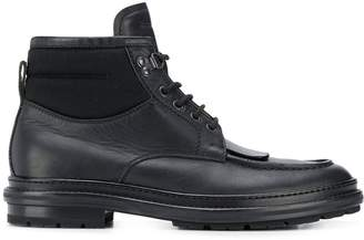flat lace-up boots