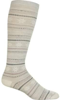 Woolrich Novelty Merino Knee Hi Snowflake Sock