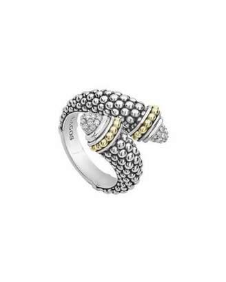 Lagos Signature Caviar Diamond Crossover Ring