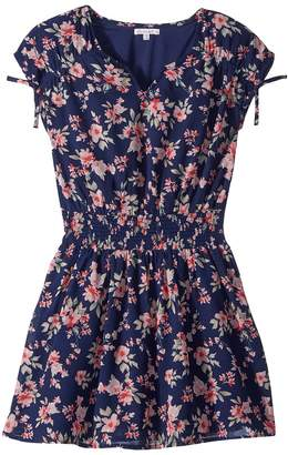 Ella Moss Floral Print Chiffon Dress Girl's Dress