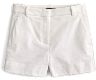 J.Crew J. CREW Fiesta Scallop Hem Stretch Cotton Shorts
