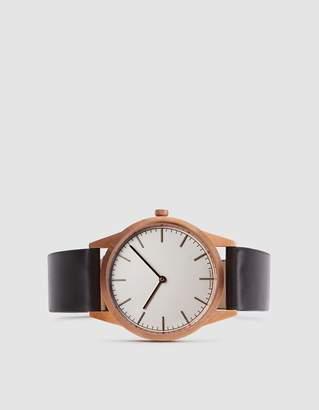 Uniform Wares C35 PVD Rose Gold Shell Cordovan Strap Watch