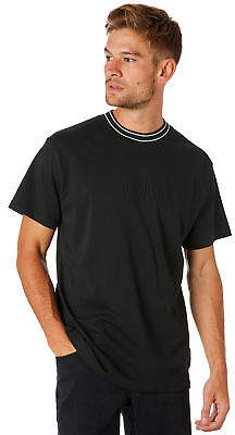 New Afends Men's High Rise Mens Tee Crew Neck Short Sleeve Cotton Pu Black