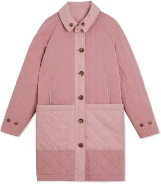 Burberry TEEN Reversible Tropical Gabardine Car Coat