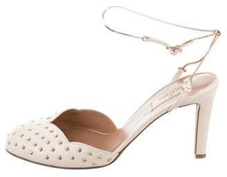 Valentino Stud-Embellished Ankle Strap Pumps