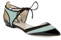 Giorgio Armani Leather Self-Tie Flat Shoes