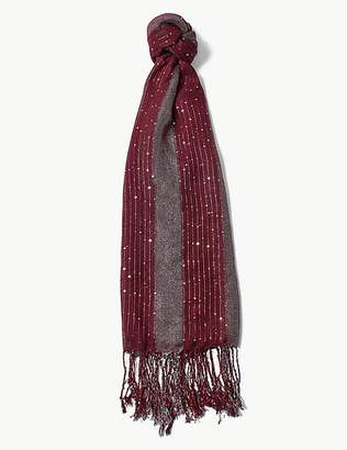 Marks and Spencer Sequin Striped Scarf