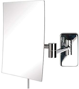 Jerdon JRT695C 6.5-Inch by 8.75-Inch Wall Mount Rectangular Makeup Mirror