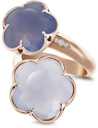 Pasquale Bruni 18K Rose Gold Wrap Ring with Chalcedony and Diamonds