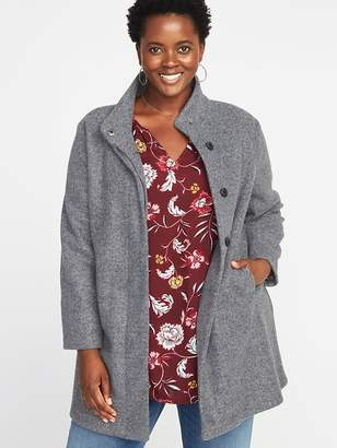 Old Navy Bouclé Funnel-Neck Plus-Size Coat