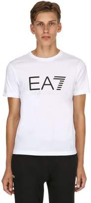 Emporio Armani Ea7 Train Logo Printed Jersey T-Shirt
