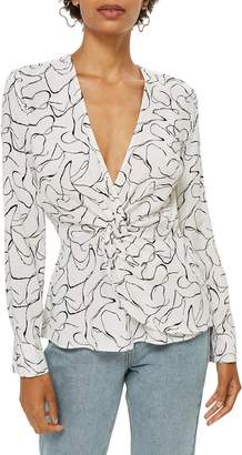 Topshop Obsession Twist Front Blouse