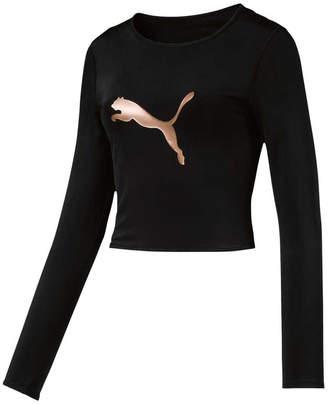 Puma Womens Luxe Crop Top Black XL