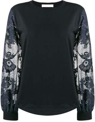 See by Chloe floral-sleeve top