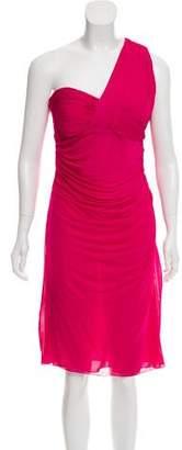 Versace One-Shoulder Ruched Dress