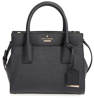 Kate Spade New York 'Cameron Street - Mini Candace' Leather Satchel - Black $298 thestylecure.com
