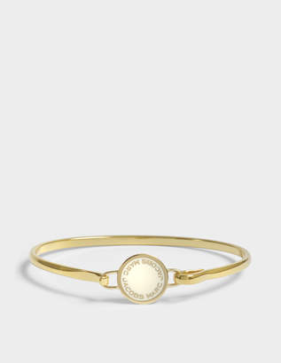 Marc Jacobs Logo Disc Hinge Bracelet in Cream Brass