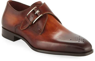Magnanni Men's Single-Monk Leather Shoes