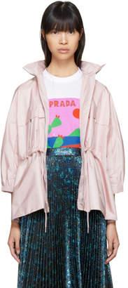 Prada Pink Nylon Short Pockets Jacket
