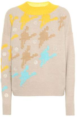 DELPOZO Cashmere and wool-blend sweater