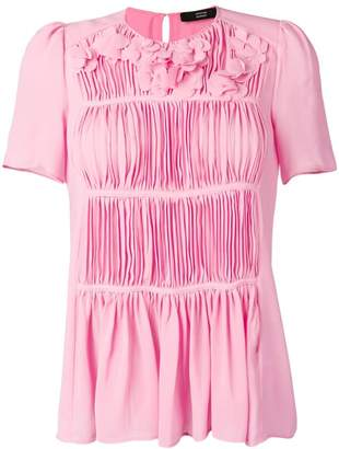 70d594a09e183f Pink Pleated Blouse - ShopStyle