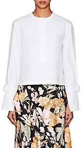 Proenza Schouler Women's Cotton Crop Henley Blouse - White