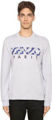 Kenzo Logo Embroidered Patch Cotton Sweater