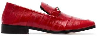 Newbark red melanie leather loafers