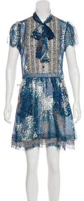 Diane von Furstenberg Short Sleeve Silk Dress