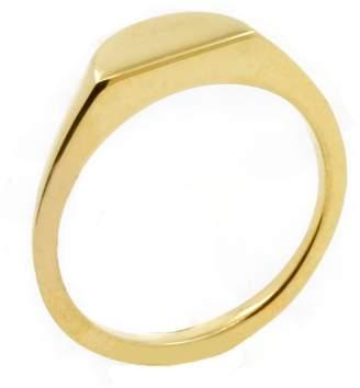 No 13 - Half Circle Signet Ring Gold