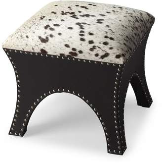 Butler Specialty Company Butler Cowhide and Brass Ottoman